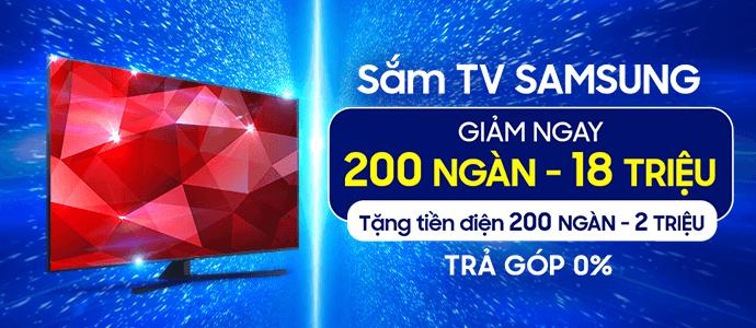 Khuyến mãi TV Samsung - Trả góp 0%