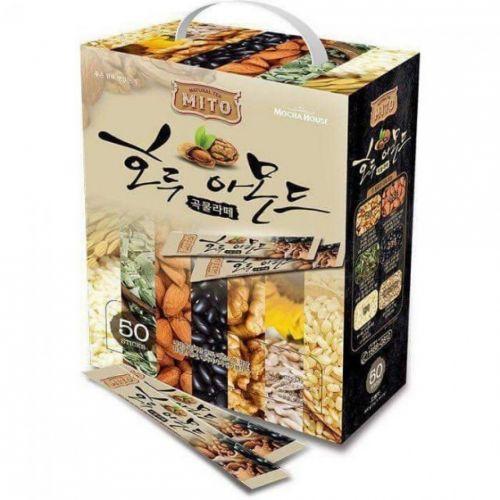 Bột sữa ngũ cốc hạnh nhân óc chó Mito Hàn Quốc hộp 50 gói